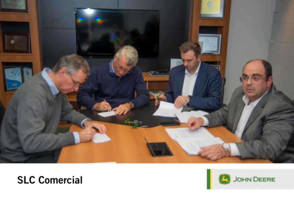 Assinada em 31/05/2019 a oficialização da negociação entre SLC Comercial e Lavoro Máquinas Agrícolas
